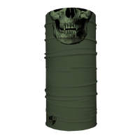 Face Shield Tactical OD Green Skull